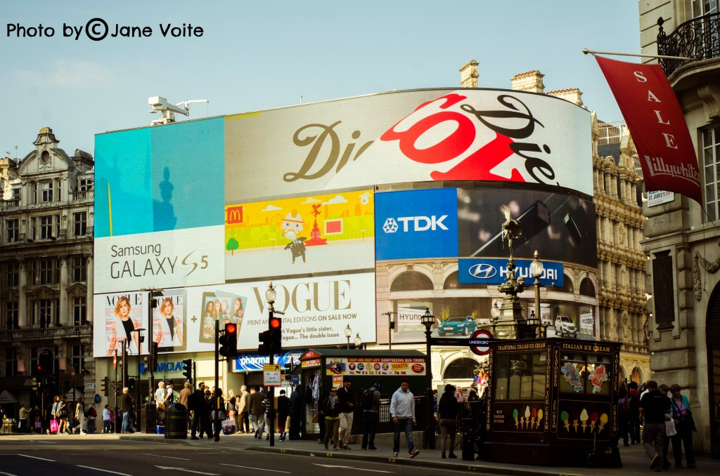 piccadilly circus  close up london