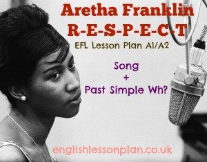 Aretha Franklin Past Simple EFL Lesson plan past simple speaking