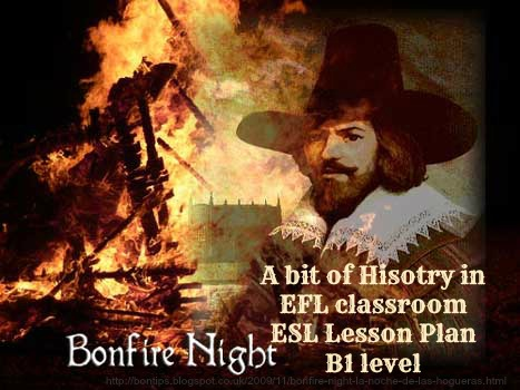 Guy Fawkes and the Bonfire night story teaching english Lesson Plan