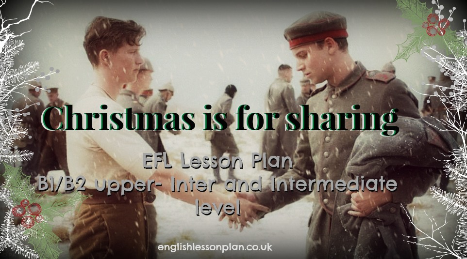 Christmas efl lesson plan teach english b1 b2 speaking writing video