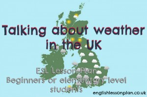 weather esl efl lesson plan
