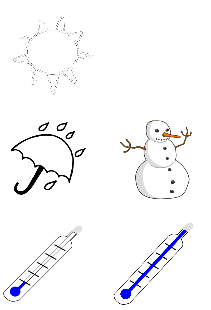otherwise print out the weather symbols