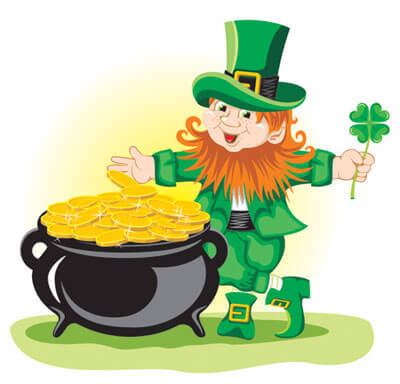 leprechaun-gold st patricks day efl lesson plan